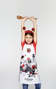 High res kids apron with plastic covering